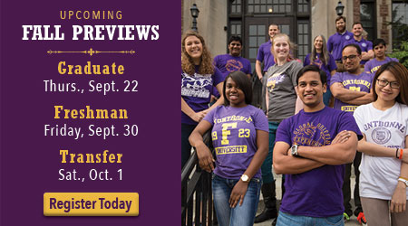 upcoming fall preview days at Fontbonne