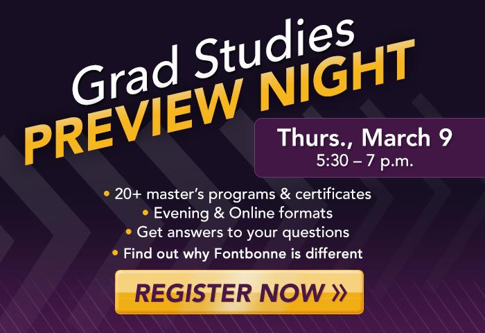 Graduate Studies Preview Night Pop Up