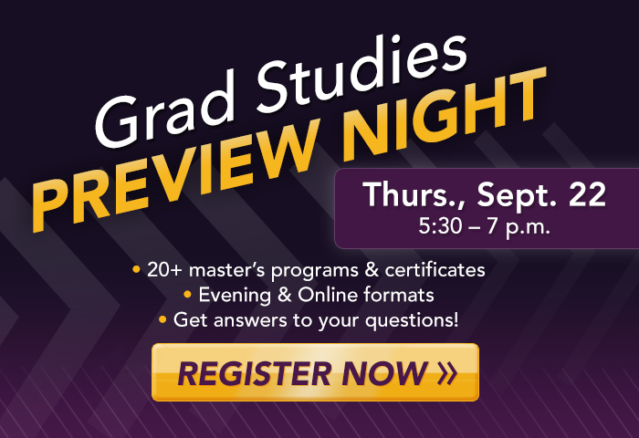 Grad Studies Preview Night