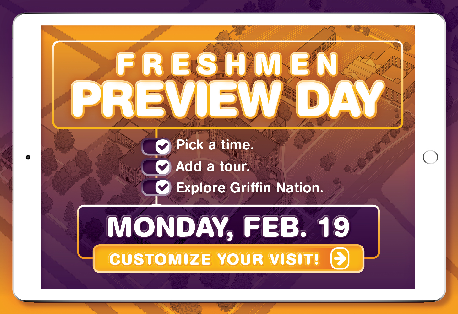Freshman Preview Day Pop-Up Reminder