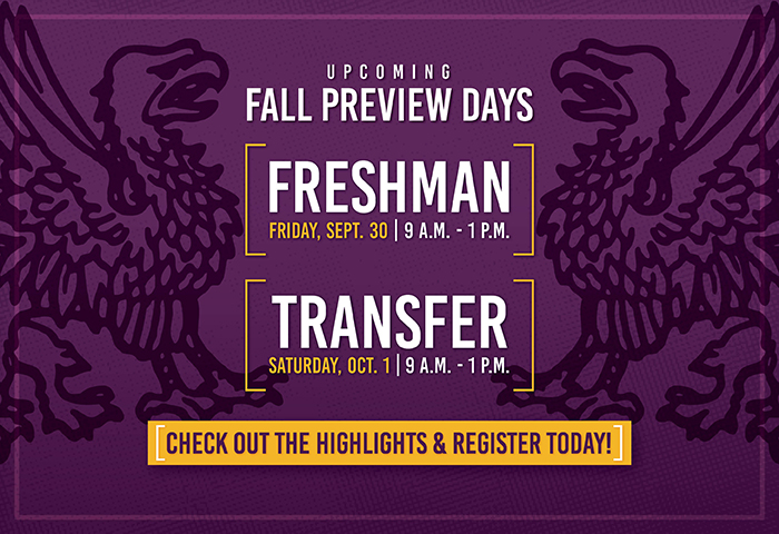 undergraduate fall preview days