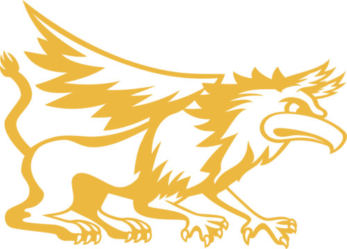 Athletic Griffin Logo gold