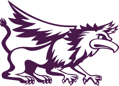 Athletic Griffin Logo purple