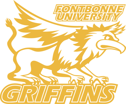 Athletic griffin logo in gold