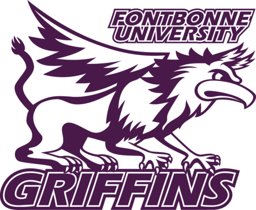 Athletic griffin logo in purple