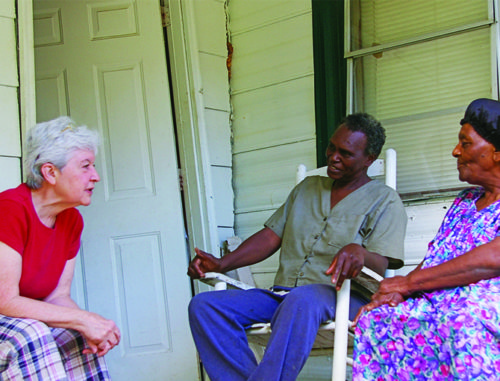 Sr. Donna Gunn works with people in Mississippi.