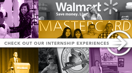 Internship experiences banner in mega navigation