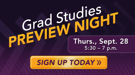 Grad Studies Preview Night September 28
