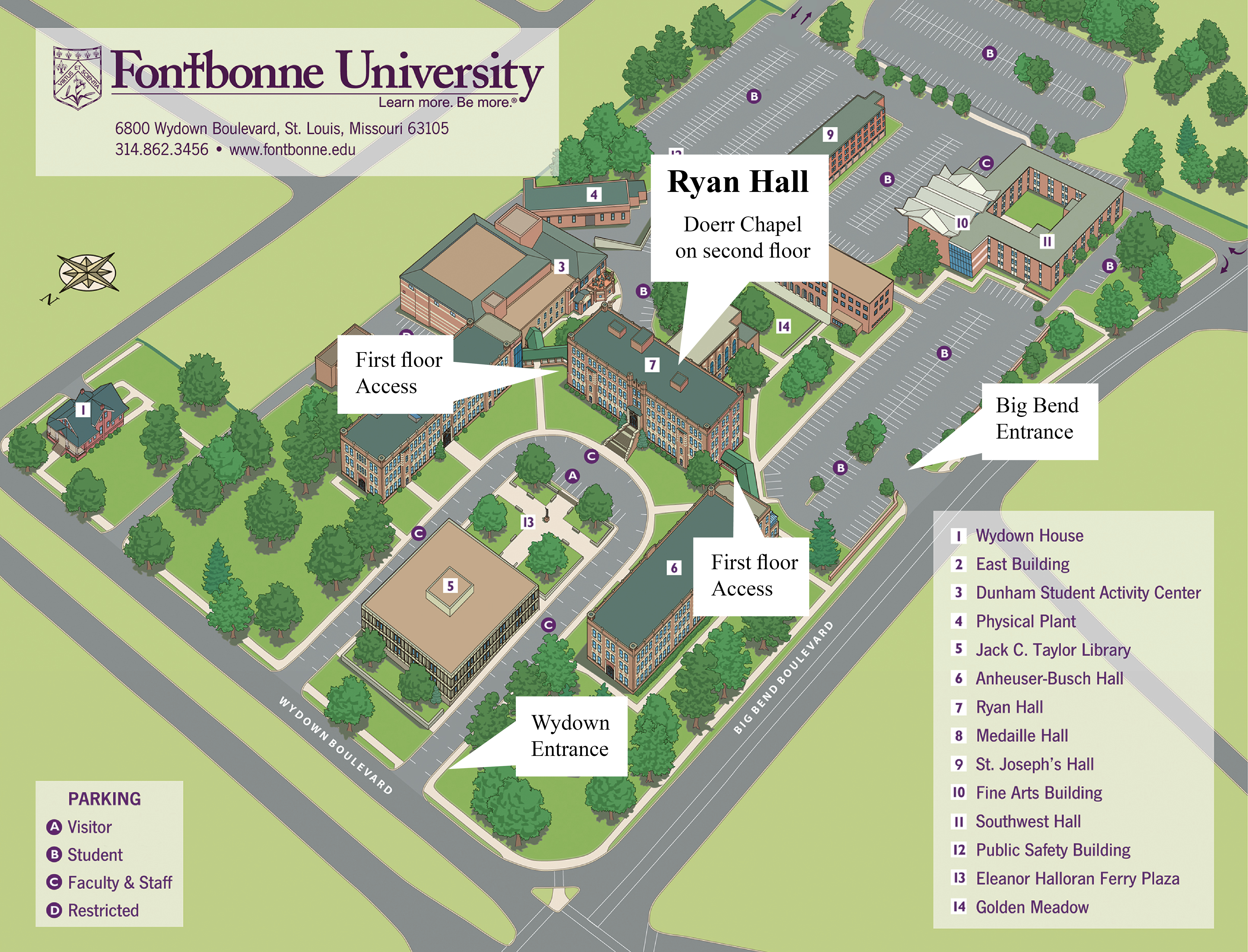 Fontbonne Campus Map.Cathedral Concerts Chamber Music Series Fontbonne University