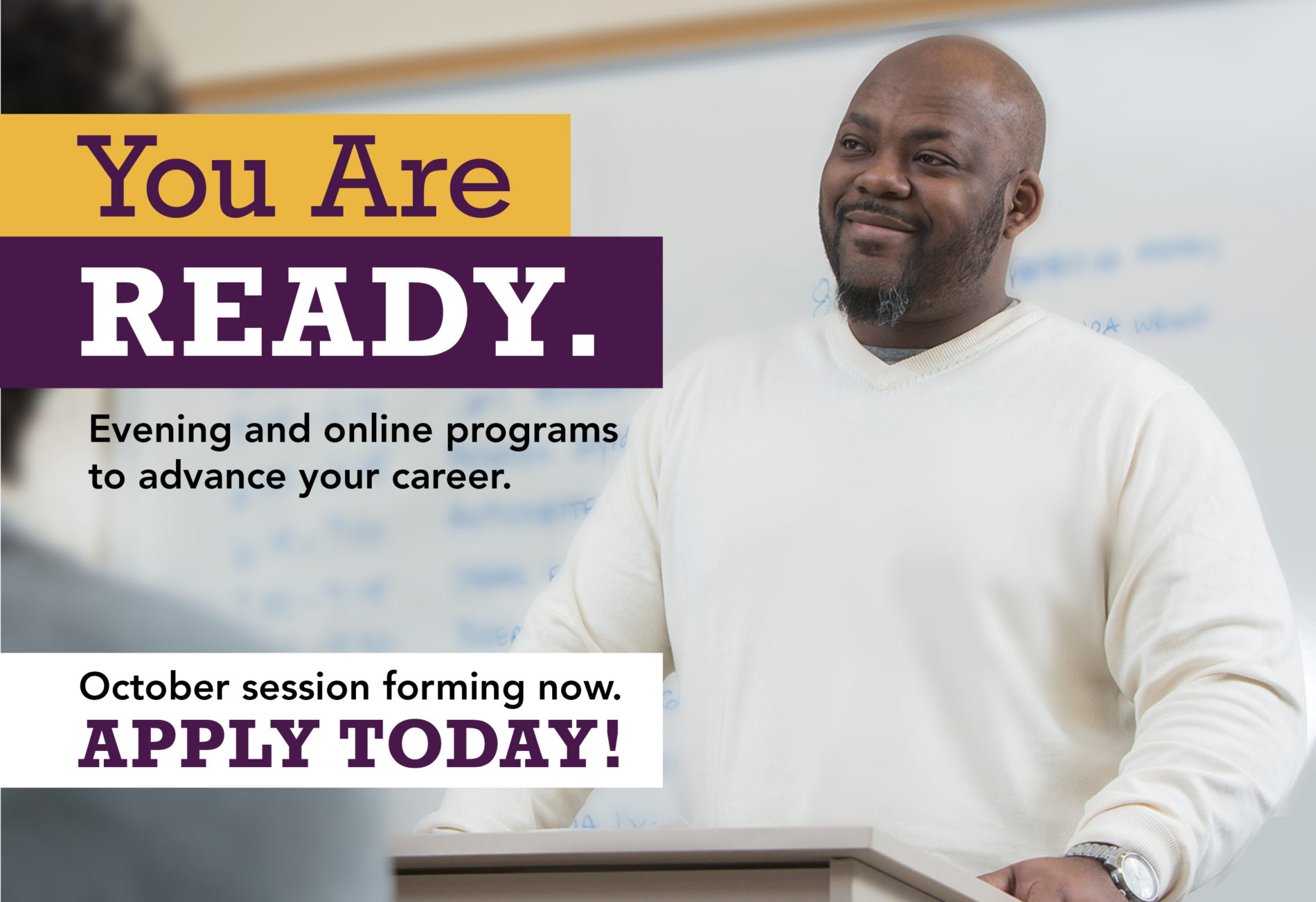 Begin your Fontbonne degree in October.