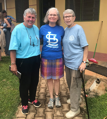 (l-r) Sr. Patty Clune, Mary Beth Gallagher, Sister Pat Murphy in Gulu, Uganda