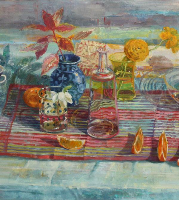 Painting by Carol Stewart, Fontbonne alumna