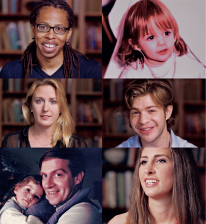 Faces from The Listening Project, a documentary film