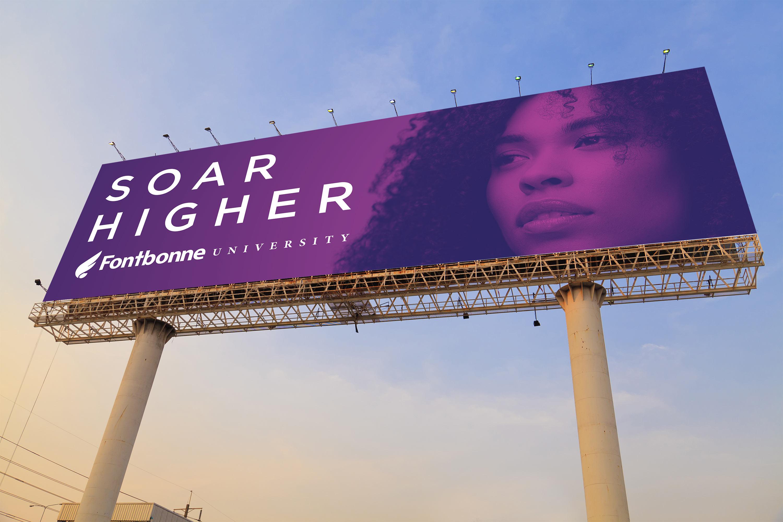New billboard design for Fontbonne.