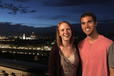 Students abroad in Italy.