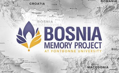 Bosnia Memory Project banner.