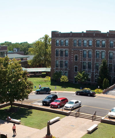 Aerial view of Fontbonne campus.