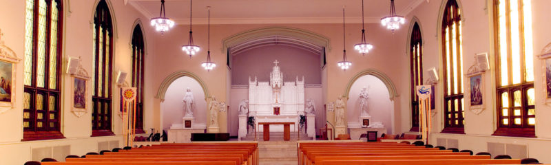 Inside the Doerr Chapel.