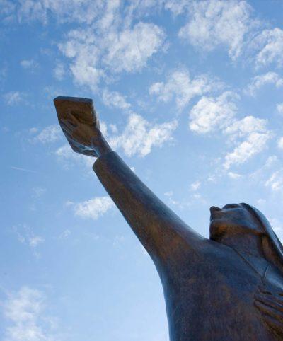 Found Spirit statue on campus.