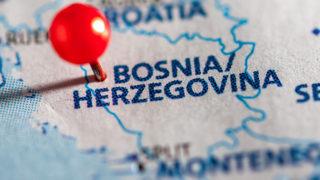 Map of Bosnia.