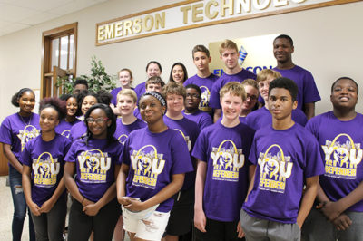 Cyber Warrior campers smiling for photo.