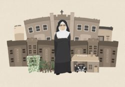 Illustration of Mary Agnes Rossiter at Fontbonne