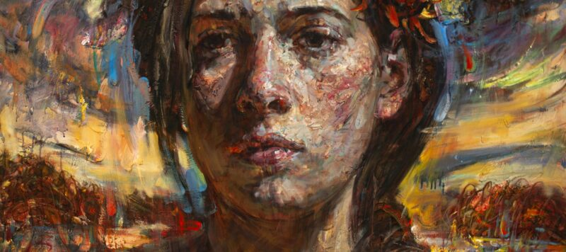 painted impressionist portrait of woman